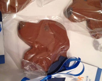 12 Chocolate Dog Lollipops Thank You Vet Pet Groomer Pet Sitter Pet Lover Dog Walker Party Favors