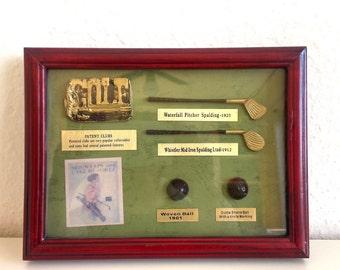 Vintage Wall decor,Mini  Golf accessory ,Collectibles,Golf art, Golfing gift,Hobbies, Golf Club Decor, Retro Golf