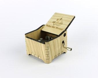 Take Me Home - John Denver + Your Engraving on the music box