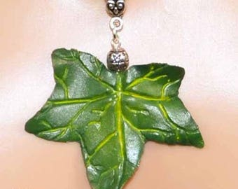 Ivy Leaf Pendant in Summer Tones - Pagan Jewellery, in vibrant Summer hues perfect for Beltane, Summer Solstice/Litha.  Wiccan, Witch, Druid