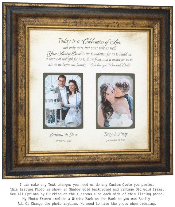 Wedding Gift for Parents Personalized Wedding Frame Family
