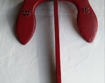 Vintage 15 lb. Wilcox Crittenden NAVY Anchor in Red Paint with Lettering in Black Paint