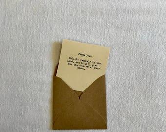 Psalm Bible verse - mini card