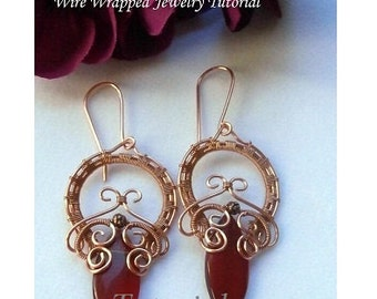 TUTORIAL, Wire Wrapped Earrings, O! My Goddess Earrings, Marquee, Wire Weaved Jewelry Pattern