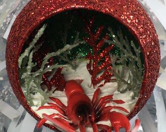 Lobster Diorama Terrarium Ornament