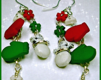 Winter Wonderland-dangle earrings