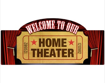 Welcome Home Theater Wall Decal #40765