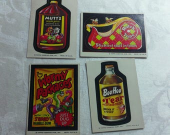 Vintage Wacky Pack Cards from the 1970's - set #8