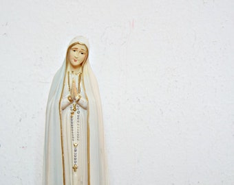 virgin MARY STATUE religious statue MADONNA virgin mary Lourdes catholic mother mary spiritual sacred heart