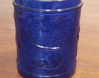 1930's Maryland Glass Cobalt Cigarette Jar