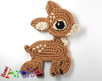 Crochet Applique Deer