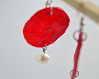 Kombucha Scoby Kombucha jewelry Vegan Leather Jewelry freshwater pearl earrings