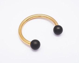 CAROLINA Mixed, Open Cuff Bracelet, Gold Bracelet, Minimalist Jewelry,  Open Bangle Bracelet, Round edgea Bangle