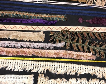 Trim 23,11, 7 Yds Plus More. Also Several Tassels. Some Pcs are New, some Unused