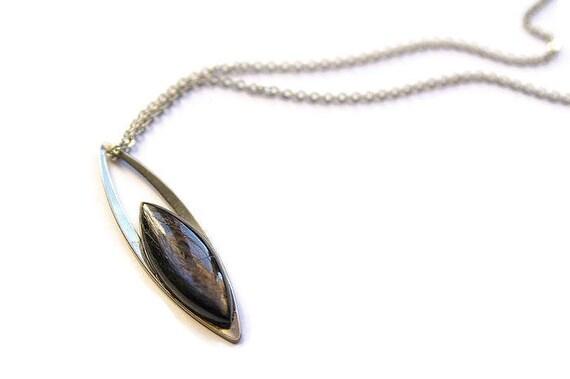 Natural Hyperstene Jewelry, Gemstone Necklace, Pendant Cabochon, Hyperstene Gift for Her, birthstone