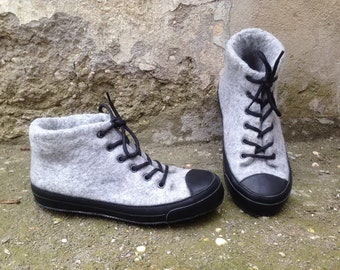 Felted boots RITA