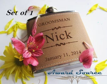 Personalized Groomsmen Flask Wedding Gift
