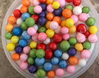 Rainbow Foam dye Slime Crunchy Free Squishy Buttery Scented