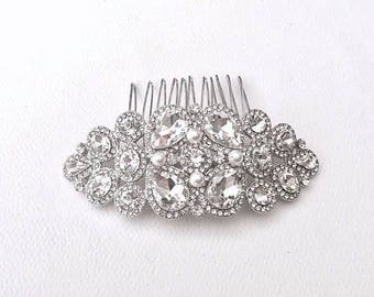 Wedding Bridal Hair Comb Silver Plated Rhinestone Crystal Wedding Hair Accessories Bridal Hair Jewelry