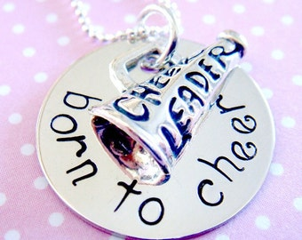 Cheerleader Necklace - Personalized Jewelry  - Hand Stamped Necklace