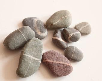 Scottish beach pebbles,beach finds, wishing stones, rustic home decor, beach jewelry,jewellery,sea glass,rocks, stones, beach pebble, (B70)
