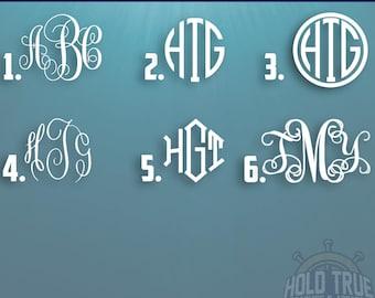 Monogram Decal - Monogram Sticker - Monogram Decals - Monogram Laptop Decal - Car Decal - Custom Yeti Decal - Monogram Car Decal - Monogram