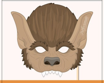 Current image intended for printable wolf masks