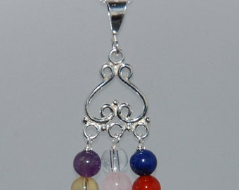 Hand Crafted Sterling Silver Chakra Pendant