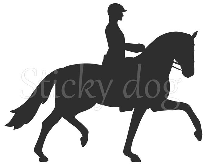 Dressage horse sticker