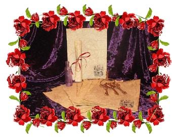 Wonderland Caterpillar - Antiqued Fairytale Paper - 10 Sheets