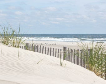 Ready to Hang Canvas Gallery Wrap, Coastal Wall Print, Beach Photography, Sand Dune Picture, Ocean Photograph, Beach Grass, Canvas Print