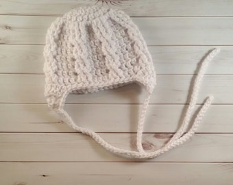 Newborn Hat, Crochet Baby Hat, Baby Girl Hat, Baby Boy Hat, Newborn Photo Prop