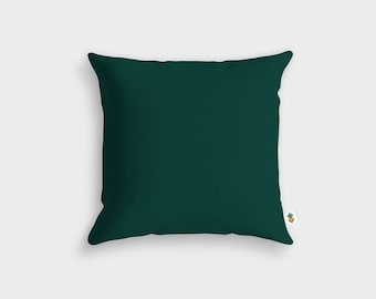 Basic green tree pillow - Made in France - 45 x 45 cm