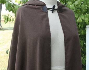 Brown Half Circle Cloak