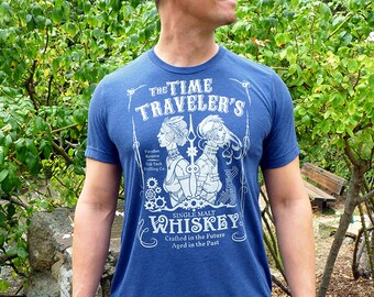 Whiskey Shirt, Mens Graphic Tee, Whiskey Gifts for Him, Wine Gift, Beer Gift, Husband Gift, Dad Gift  - Time Traveler's Whiskey Mens Tshirt