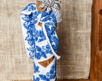 Antique large Textile Spool with Vintage Flair-Home Decor