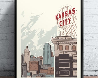 Kansas City Crossroads Screen Printed Poster