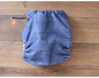 Jeans Inspired Denim One Size Pocket Diaper (Cloth Diaper)
