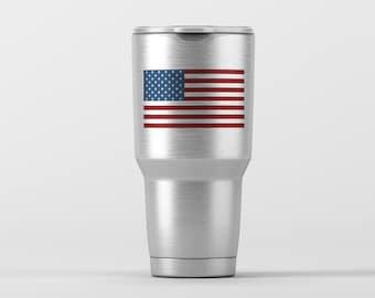 American Flag / Yeti Decal / Vinyl Decal / Yeti Tumbler Decal / Yeti Cup Decal / RTIC / * Tumbler Available *