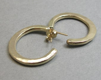 Small Gold Filled Hammered Hoops, Handcrafted Gold Filled Jewelry, Hammered Gold Filled Hoops in Various Sizes
