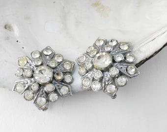 Starburst  Earrings  - Clip On Earrings - Gift for Women - Diamante Earrings - Mother's Day Gift - Gift under 25 - Sparkly Earrings