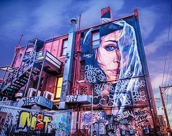 Graffiti Photography, Melbourne Print, Street Art Wall Art, Johnson Street Fitzroy, Fine Art Prints Gift for Her, FREE SHIPPING AUSTRALIA