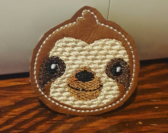 Cute Embroidered Sloth Magnet