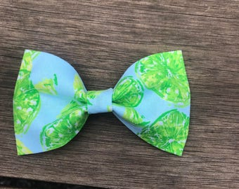 Lime Blue Beephy Bowtie