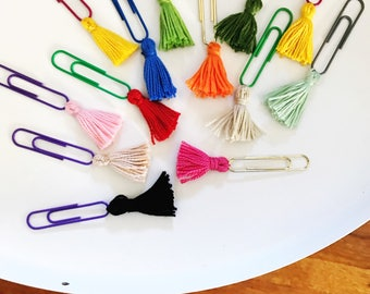 Tassel Paperclips Bookmarks