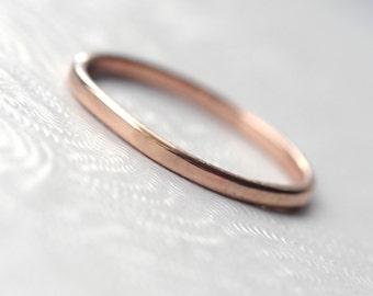 Dainty 9k Rose Gold Wedding Band for Women