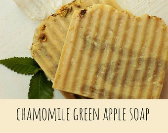Homemade Soap - Chamomile Soap - Floral - Natural - Cocoa butter - Shea Butter - Bar Soap - Soap