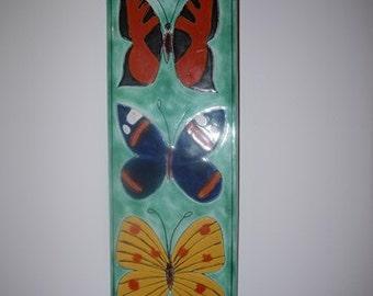 Wall Plate - Upsala-Ekeby - Taisto Kaasinen - Sweden - Butterflies - Mid Century - 60s - Design - Sweden