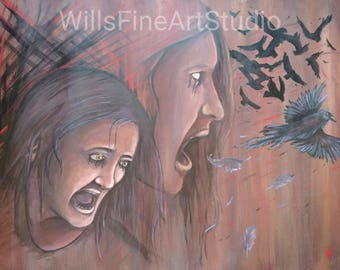 Anger to Anguish original painting by guest artist: Andrew Pratt