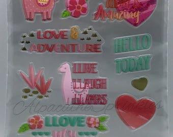 Pink Llama Stickers